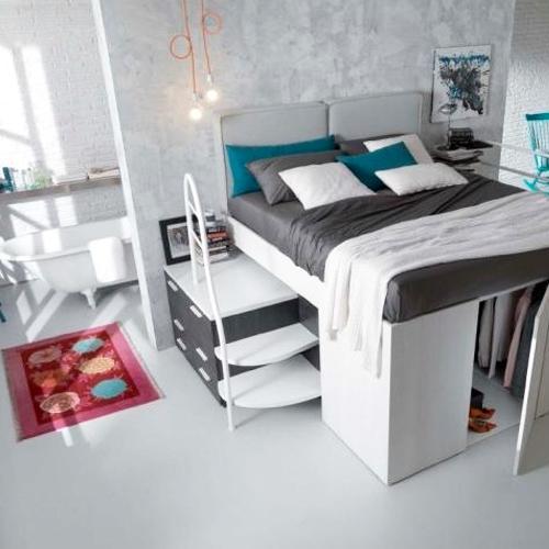 aménagement chambre lit mezzanine