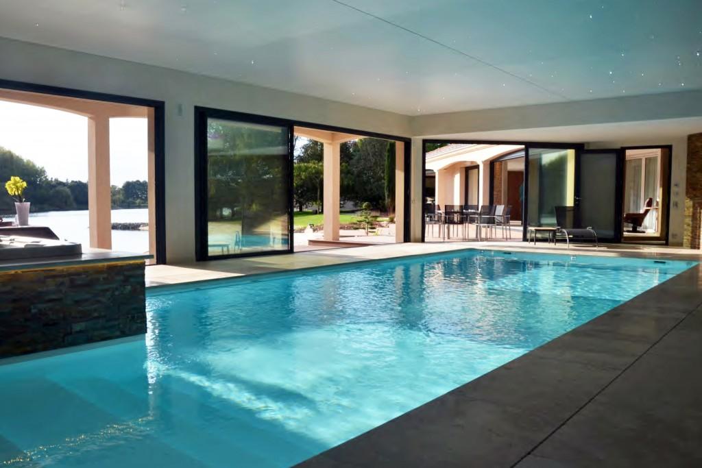Architecture piscine intérieure