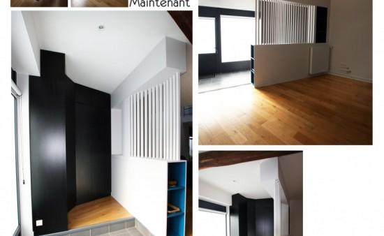 Création entrée dans un loft