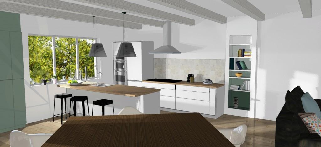 Rénovation et travaux dans une cuisine
