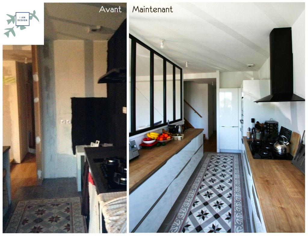 Rénovation cuisine aménagée verrière Nantes